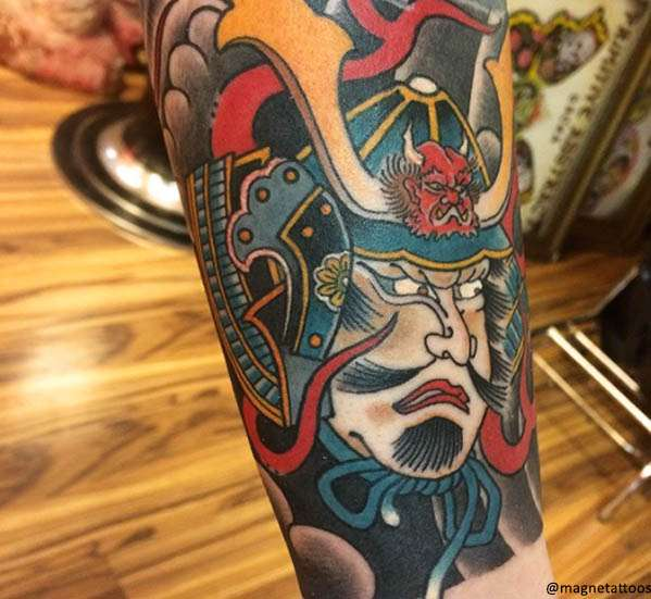 samurai Tatuaggio Giapponese