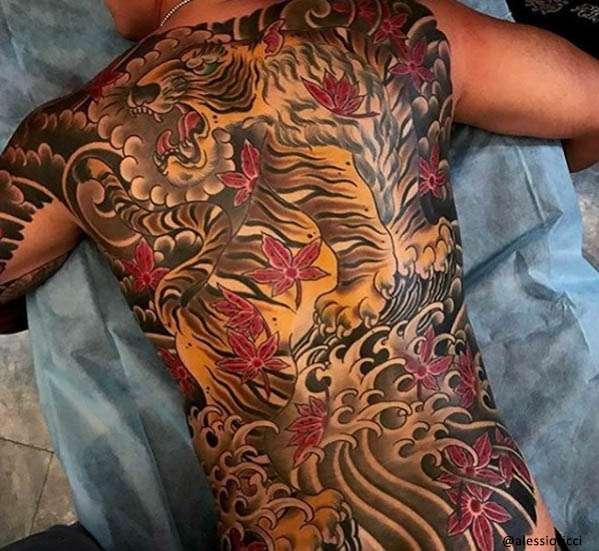 tigre tatuaje japonés