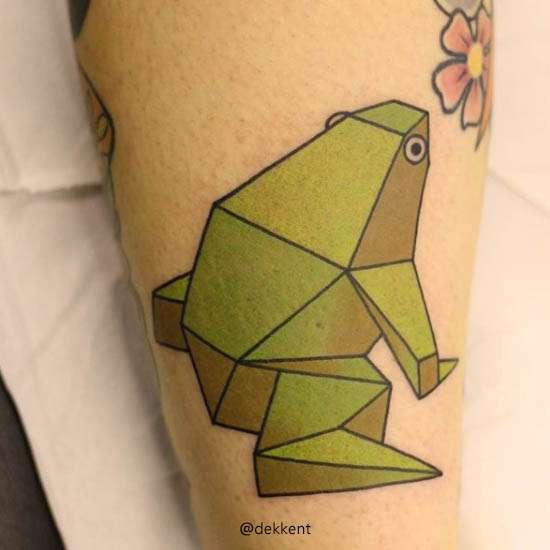 Tatuaje De Origami