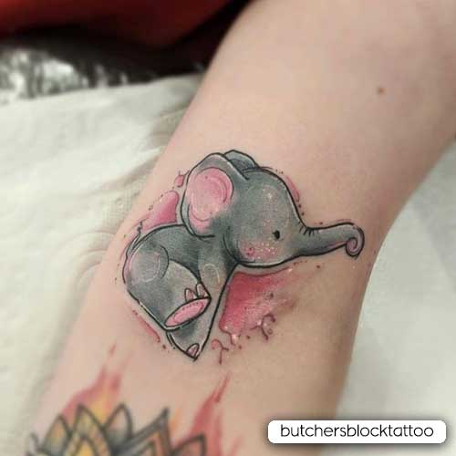 piccolo tattoo elefante