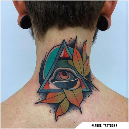 new school tattoo illuminati