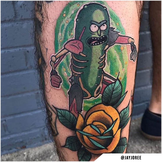 Cetriolo Rick new school tattoo