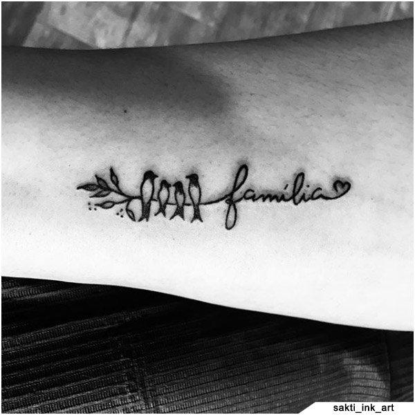 idee tattoo famiglia uccellini