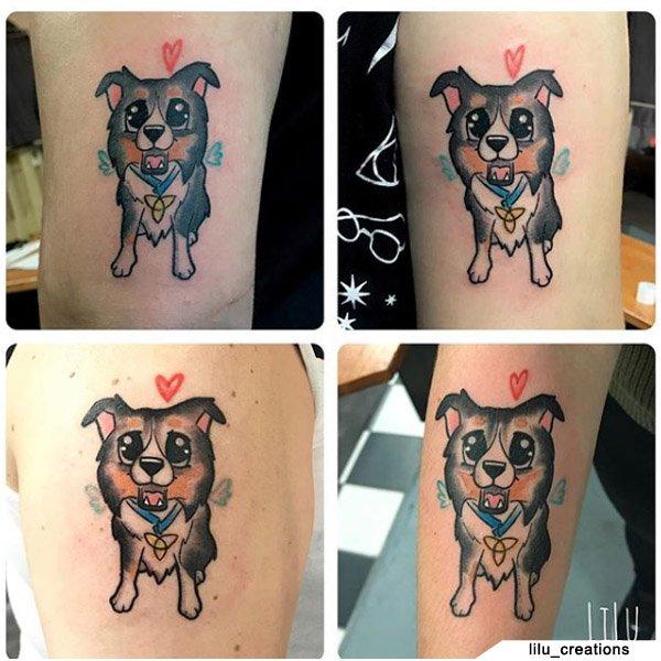 Tatuaggio Famiglia Cagnolino
