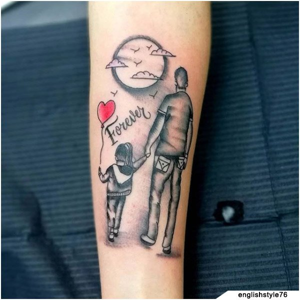 Forever Balloon Family Tattoo