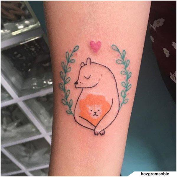 idee tattoo famiglia disegno bambino