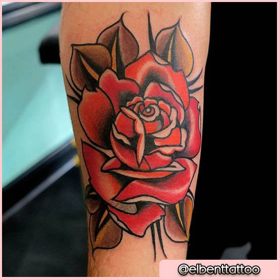 Rosa Rossa Tattoo Old School