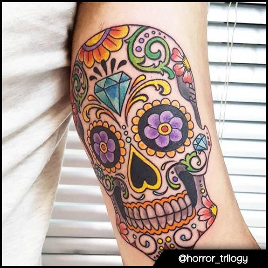 teschio messicano interno braccio