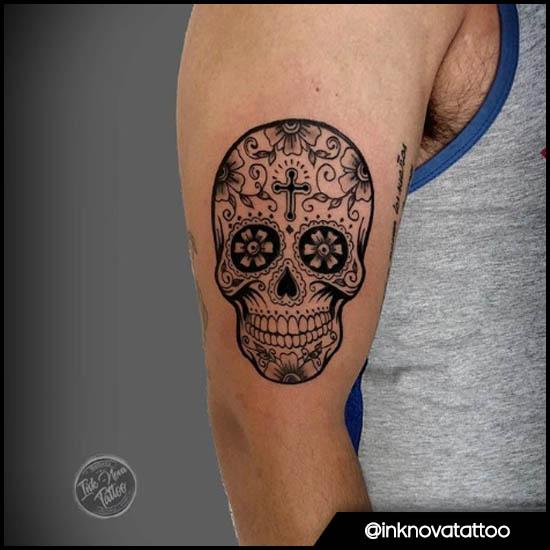 teschio messicano braccio