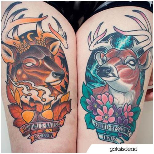 cervo e natura
