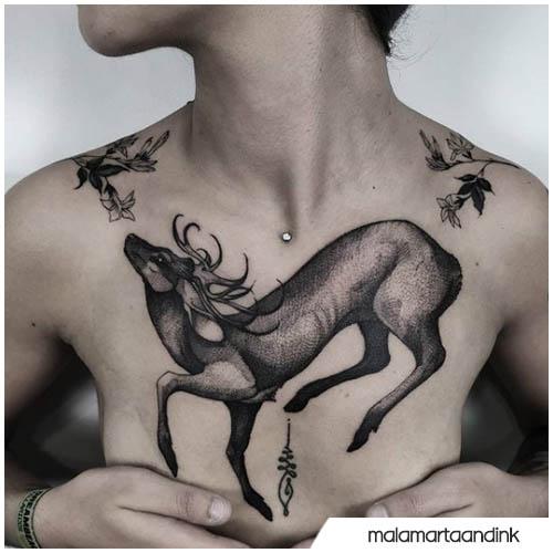 cervo blackwork sterno donna