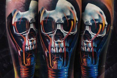 Tatuaggio teschio di cervo