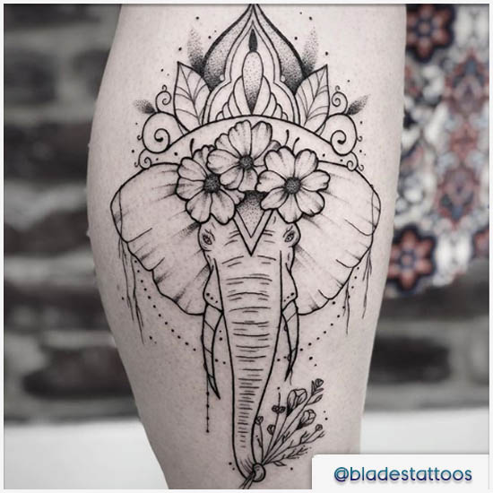 elefante mandala