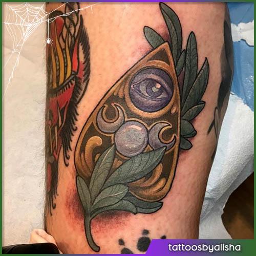 Ouija tatuaggio halloween