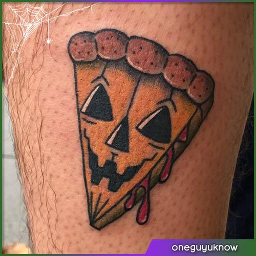 Torta di zucca Halloween tattoo