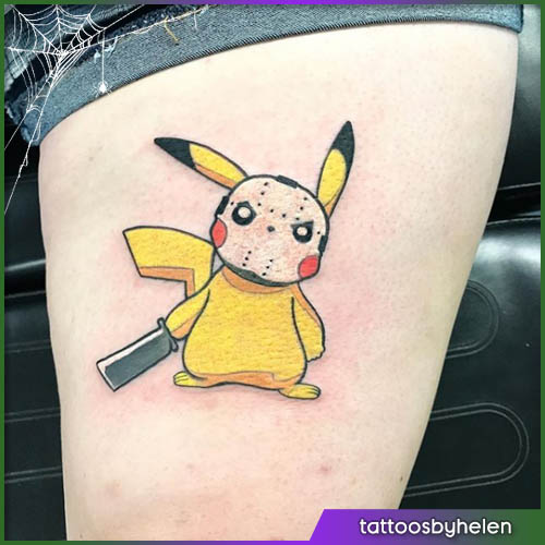 Pikachu Halloween tattoo