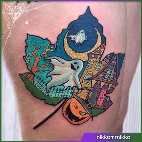 Villa infestata tatuaggio halloween