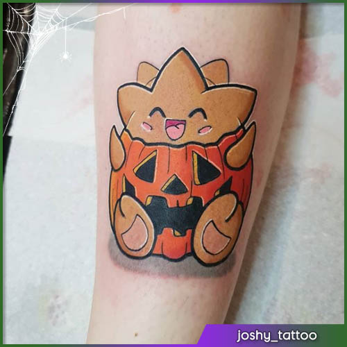 Pokemon Halloween tattoo