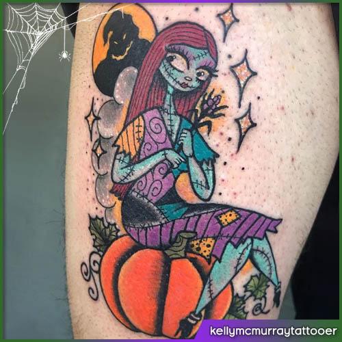 Sally tatuaggio halloween