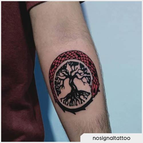 ouroboros tattoo albero della vita