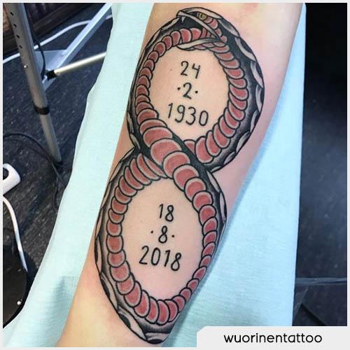tatuaggio ouroboros date