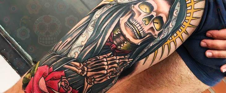 tatuaje de santa muerte