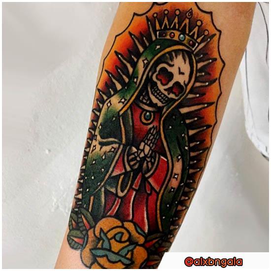 Tatuaggio Santa Muerte mix