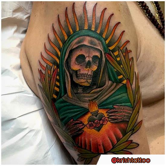 Santa Muerte colorata