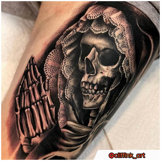Santa Muerte Tattoo morte