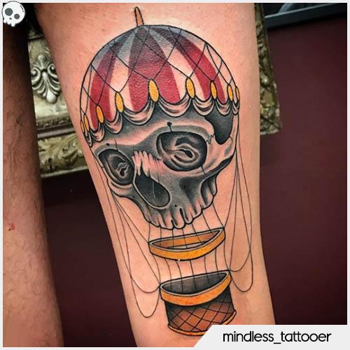 tatuaggio teschio mindless