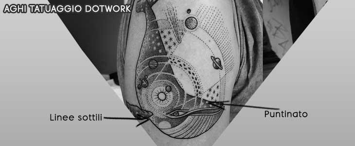 info grafica aghi tatuaggio dot work