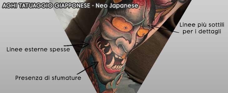 info grafica aghi tatuaggio giapponese