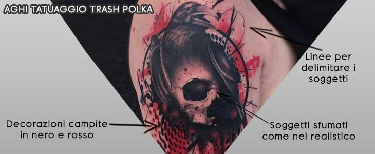 info grafica aghi tatuaggio trash polka