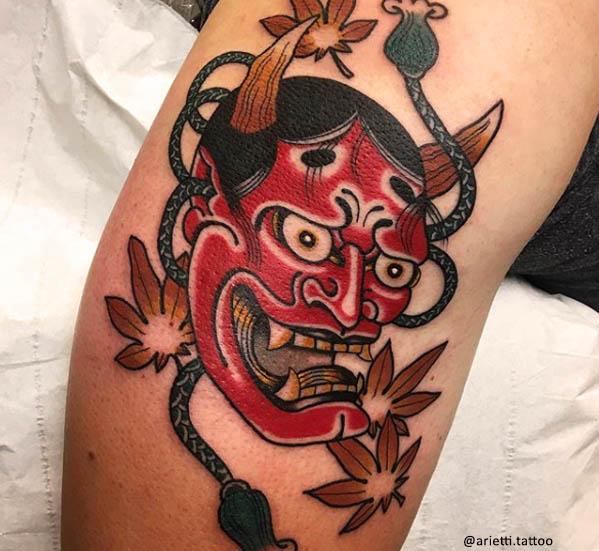 tatuaje japonés hannya