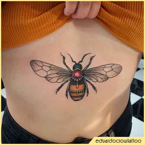 tattoo ape pancia