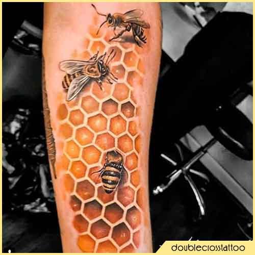 tattoo nido d'ape