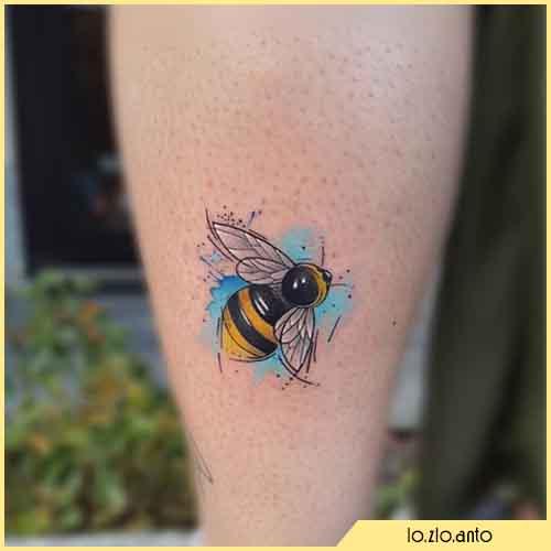 Tatuaggio Ape Watercolor