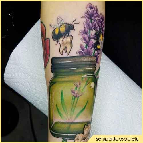 Tatuaggio Ape Dente