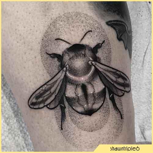 Tatuaggio Ape dotwork