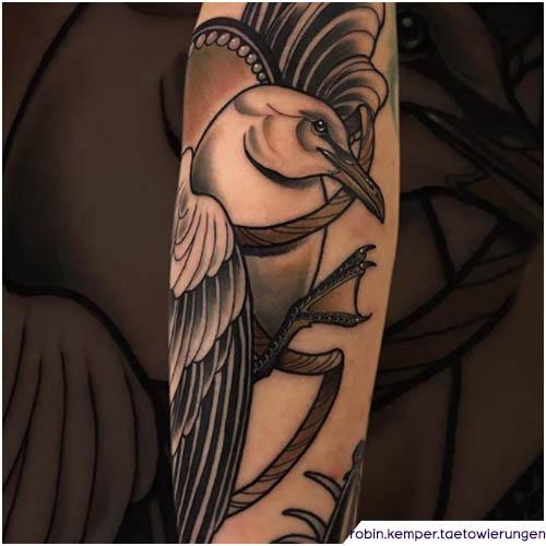 tatuaggio gabbiano neo traditional braccio