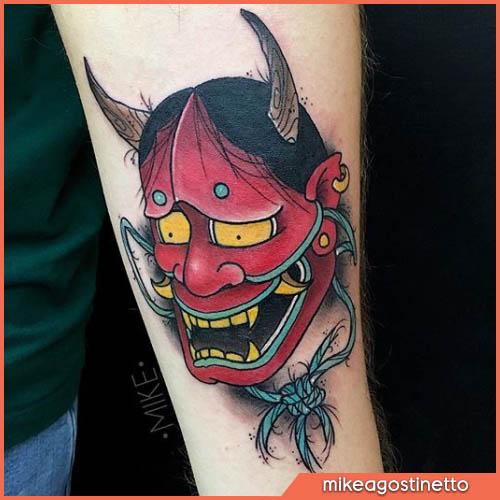 maschera hynnya tatuaggio giapponese