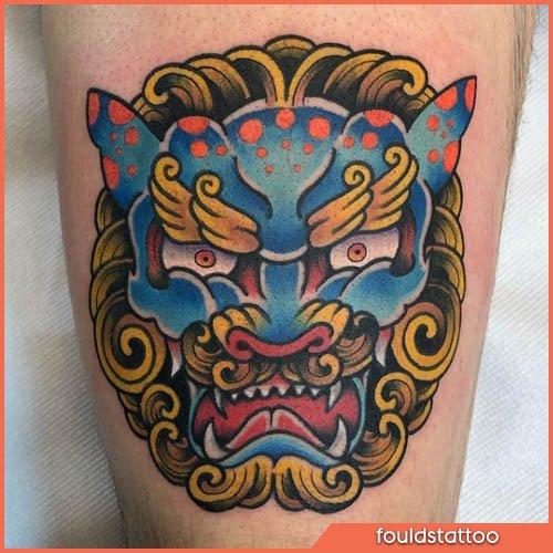 karashishi tatuaggio giapponese