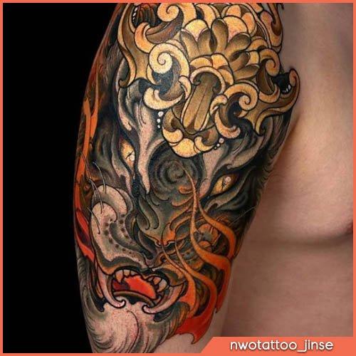 tatuaggio giapponese shi shi