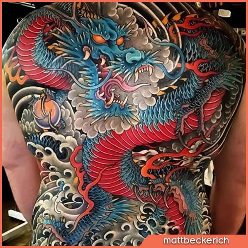 drago tatuaggio giapponese