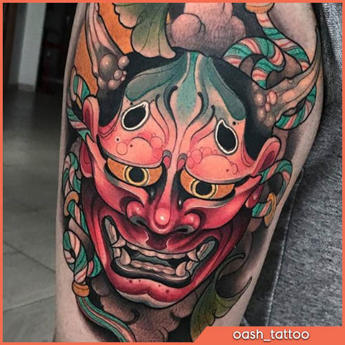 neo japanese tattoo oni by oash