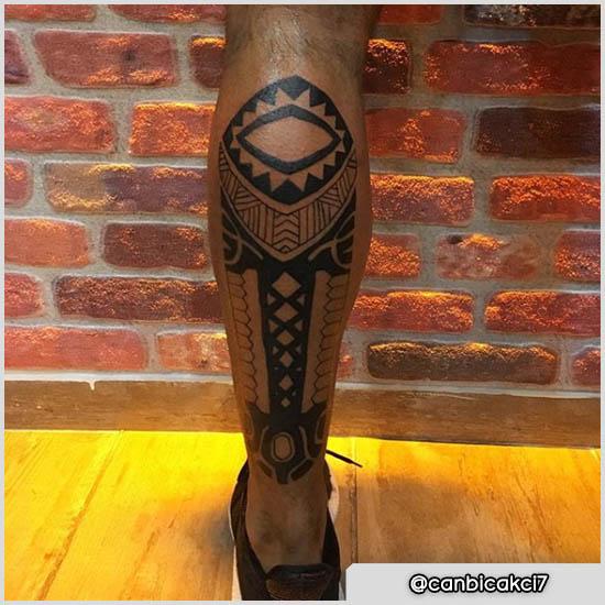 tattoo maori polpaccio