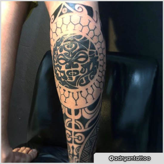 tatuaje ternero maorí trabajo en progreso