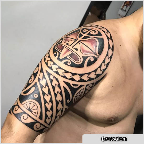 tattoo maori spalla work in progress