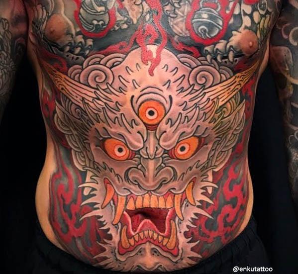 oni tatuaje japonés