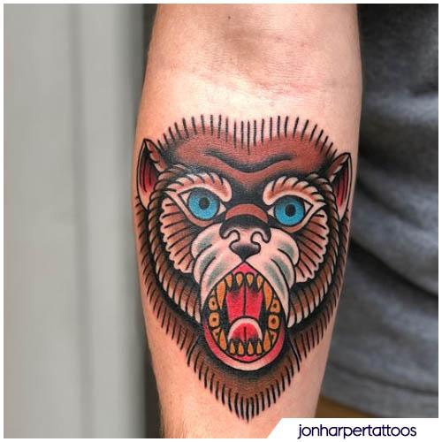 tatuaggio orso old school